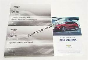 2018 Chevrolet Equinox Owners Manual User Guide Premier Lt