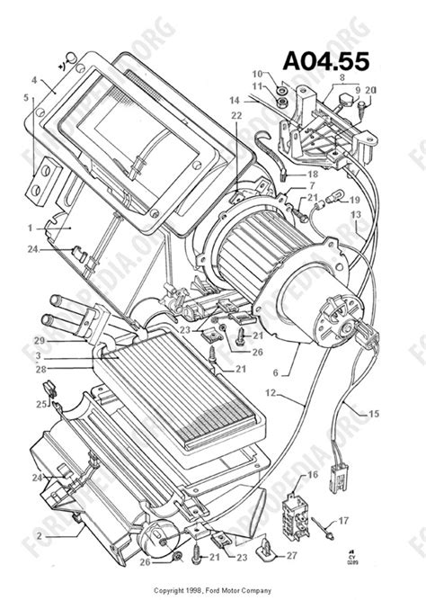 ford transit mkiii 1985 1991 parts list a4 55 heater components fordopedia org