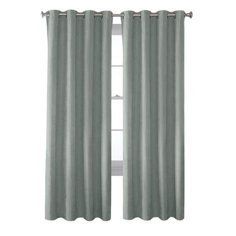 solaris mist faux suede grommet curtain 1 panel 1627819