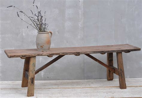 Low Narrow Bench by Vintage Low Solid Elm Bench Coffee Table Home Barn Vintage