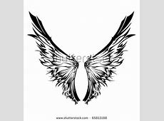 Tribal Tattoo Wings Stock Photos, Images, & Pictures