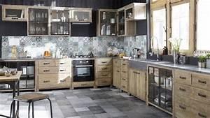 Idee decoration salle de bain meubles bois brut metal for Idee deco cuisine avec meuble bois brut