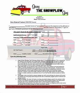 Snow plowing contract template 20 free word pdf for Snow plowing proposal letter