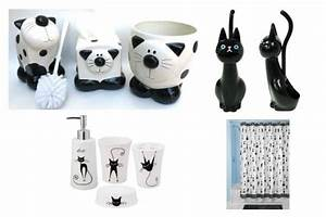 black and white cat accessories to brighten up your With cat bathroom set