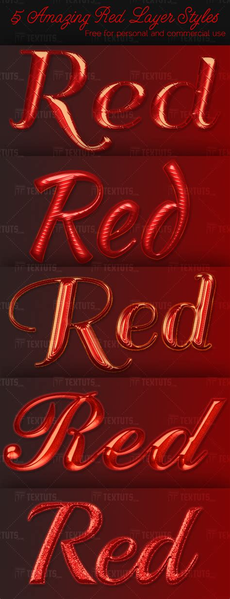 5 Amazing Red Layer Styles – Free Download   Textuts