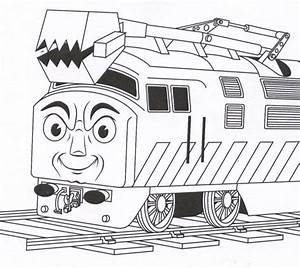 Thomas And Friends Coloring Pages Diesel 10