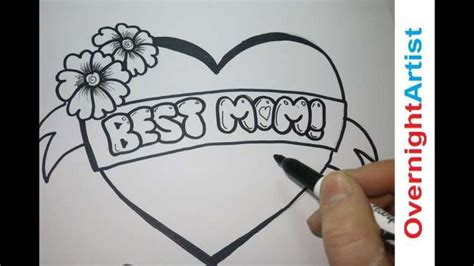 mothers day card drawing ideas happy birthday