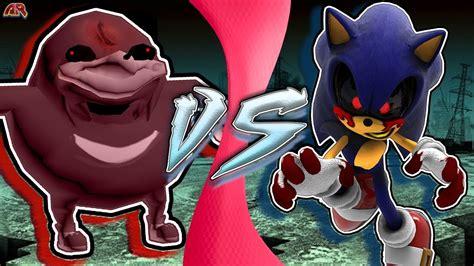 Ugandan Knuckles.exe Vs Sonic.exe! (uganda Knuckles