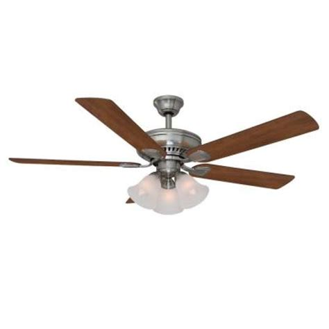 hton bay cbell 52 quot lighted ceiling fan w remote only