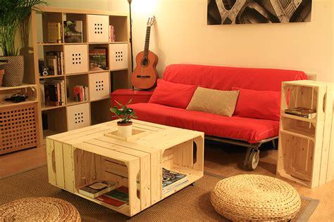 meuble tv et bureau on a testé le kit de table basse avec caisses en bois de