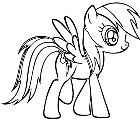 My Little Pony Clipart Printable Coloring Page Pencil
