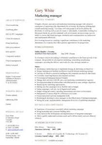 Warehouse Position Cover Letter Management Cv Template Managers Director Project Management Cv Exle