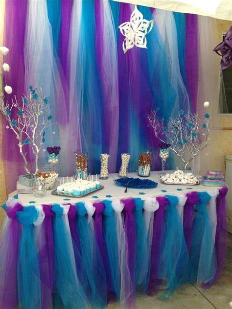 frozen theme birthday party candy table bday decoration