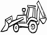 Backhoe Drawing Tractor Excavator Coloring Tweet sketch template
