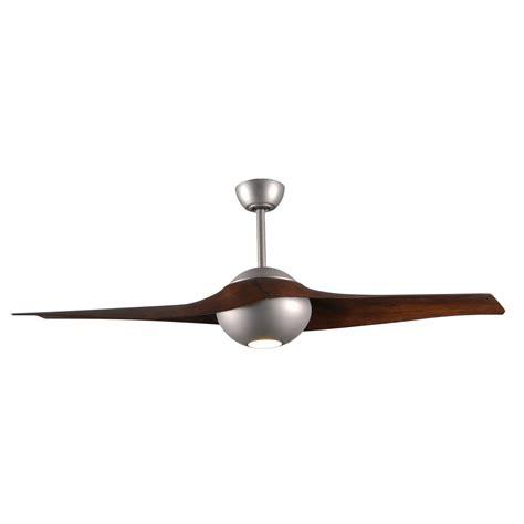 2 blade ceiling fan radionic hi tech pertoria 60 in 2 blade brushed nickel