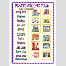 Places Around Town Worksheet  Free Esl Printable Worksheets Made By Teachers