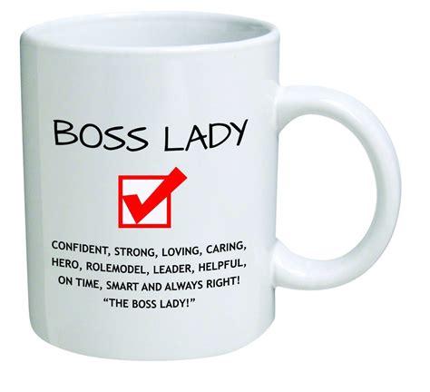 funny coffee mugs and mugs with quotes: Funny Boss Lady 11OZ Coffee Mug Novelty, Office, Job