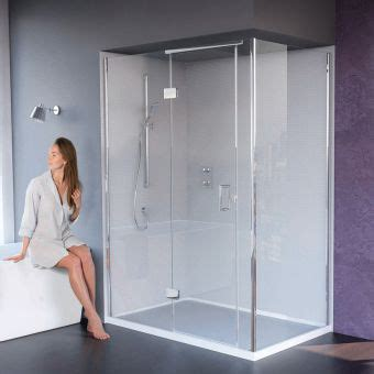 bathrooms designs hinged shower doors with inline panels semi frameless