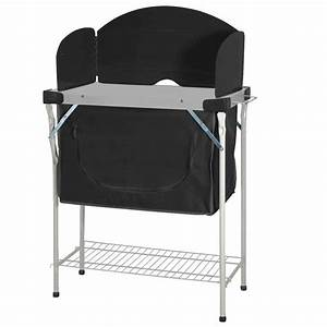 Meuble Rangement Camping : meuble rangement cuisine meuble de cuisine camping acier noir highlander ~ Teatrodelosmanantiales.com Idées de Décoration