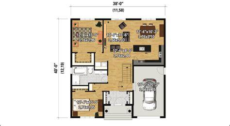 cuisine et salon aire ouverte plan de maison de plain pied la terre de chez nous