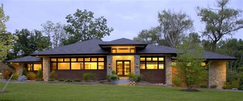painted small prairie style house plans house style design prairie style home contemporary exterior detroit