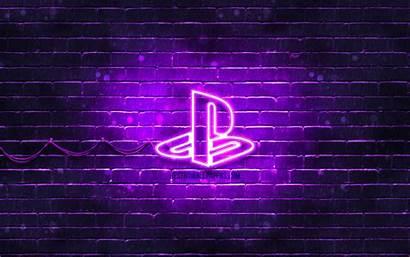 Playstation 4k Neon Brands Violet Desktop Wallpapers