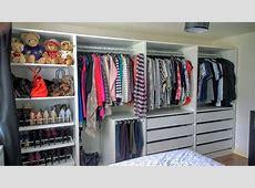 Open Plan storage with IKEA PAX Wardrobes Kip Hakes