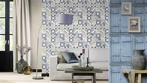 Rasch wallpaper crispy paper blue wooden 525021 for Markise balkon mit holz tapete vintage