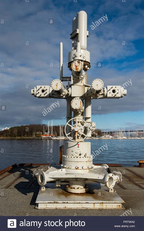 The Christmas Tree oil unit wellhead at the Stavanger oil ...