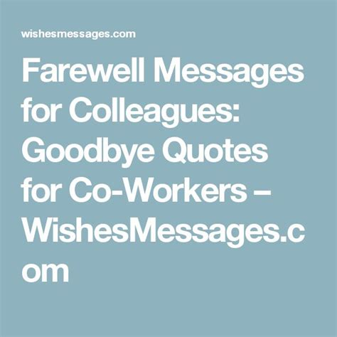 farewell quotes  colleagues ideas  pinterest