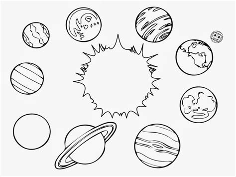 solar system clipart black and white solar system color page printable solar system coloring