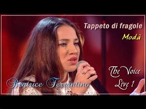 beatrice ferrantino tappeto di fragole mod 224 the voice