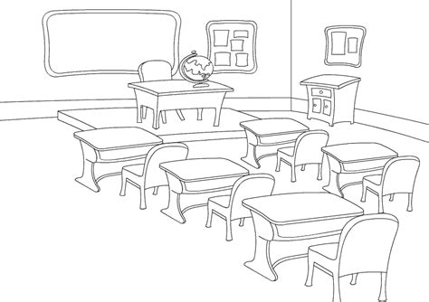 Classroom Coloring Pages Color Classroom Free Coloring Pages For