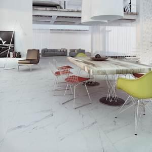 Carrelage Blanc Mat : carrelage sol aspect marbre carrare grey mat carrelage marbre blanc ~ Melissatoandfro.com Idées de Décoration