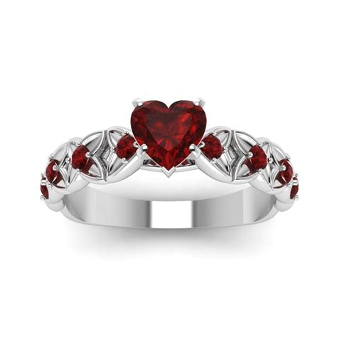 heart shaped ruby engagement rings in 2019 bridal
