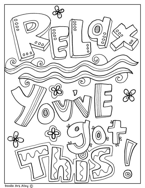 Printable Coloring Quotes by Educational Quotes Coloring Pages Classroom Doodles