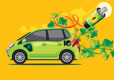 Green Car Electric by Green Car Or Electronic Car Free Vector