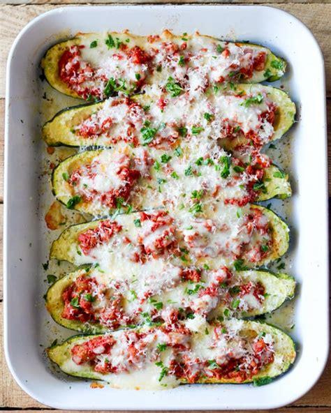 Italian Stuffed Zucchini Boats With Ground Beef Tomatoes Mozzarella by Zucchini Boats Recipe
