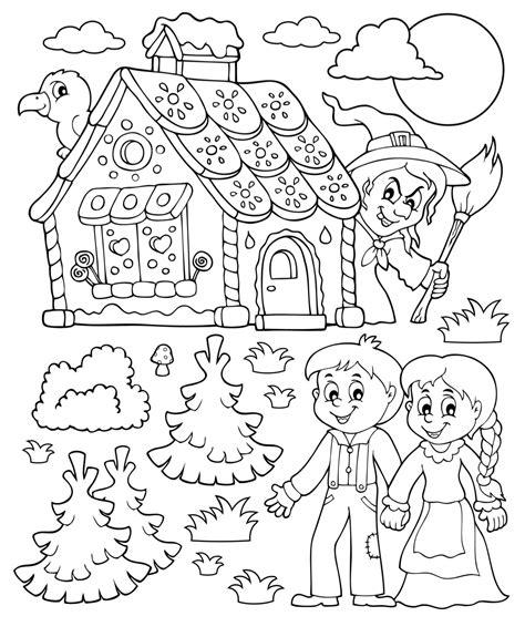 Kleurplaat Heks Hans En Grietje by Thema Sprookjes In Kinderboekenweek 2017 Juf Maike