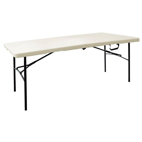 Diy Kitchen Storage Ideas - hdx 6 ft folding resin table in earth tan ta3072fx03 the home depot