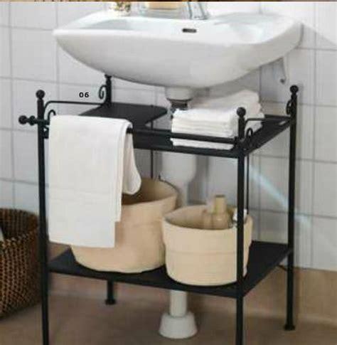 Ikea Pedestal Sink Shelf by Creative Sink Storage Ideas Sink Shelf Wall