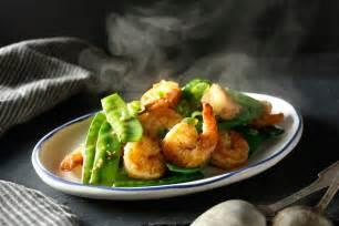 stir fried shrimp  snow peas  ginger recipe nyt