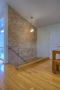 Brick wall and glass for the home