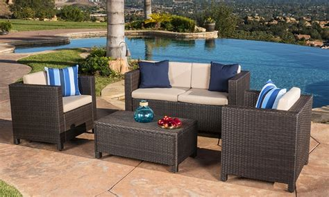 Deals On Outdoor Furniture by Venice Outdoor Wicker Sofa Set 4 Groupon