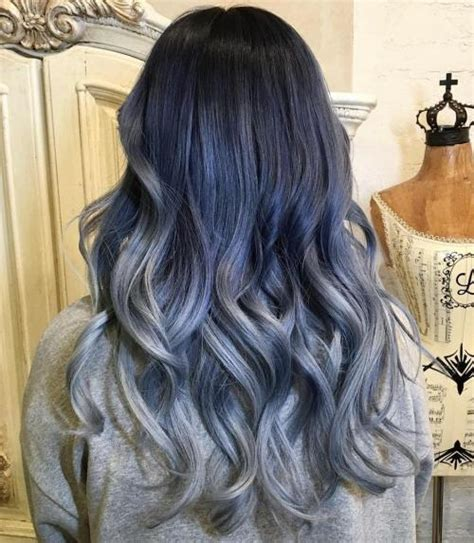 Navy Blue Lowlights by 40 Like Blue Ombre Hairstyles