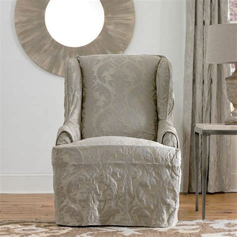 wingback chairs in wingback chair slipcover diy