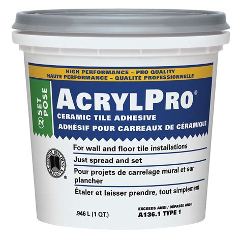 home depot wall tile adhesive custom building products acrylpro ceramic tile adhesive