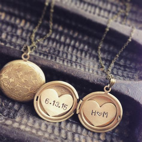 Buy A Hand Made Initials And Date Locket Necklace, Heart. Nameplate Necklace. Loft Necklace. Antique Necklace. Libra Necklace. Geo Necklace. Sparkle Necklace. Amber Sun Necklace. Guy Necklace