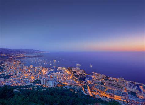 Monaco Sunset Aerial View Wallpaper   Free HD Downloads