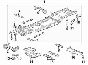 Gmc Sierra 1500 Powertrain Skid Plate Bracket  2wd  4wd